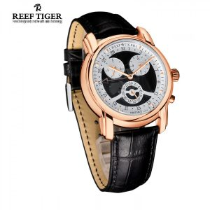 Reef Tiger Artist Constant Multi-layered Dial Watch